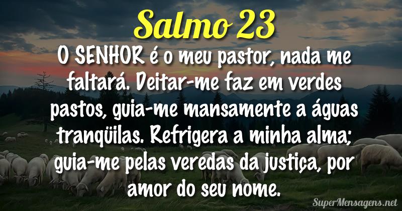 Mensagem Bíblica Salmo 23 - O Senhor é o meu pastor!