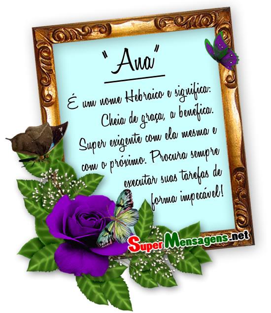 Significado do nome Ana